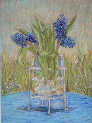 Hyacinten op het blauwe tafeltje,  2015, n.t.k.