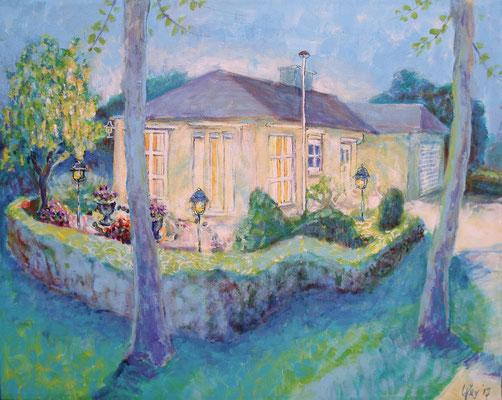 Opdracht schilderen woonhuis  40 x 50 cm, juni 2017