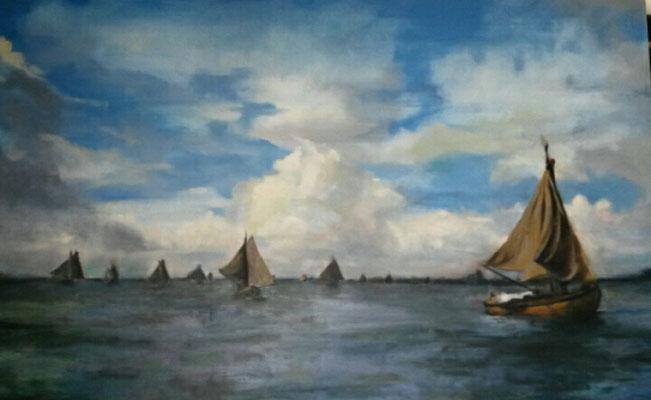 2016 Botterrace Gooimeer, olieverf op doek 60x90 (verkocht)