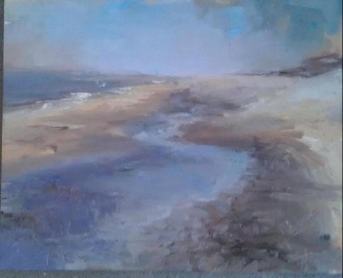 Katwijk aan zee 1, olieverf op paneel (geschonken)