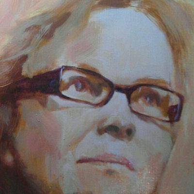 Zelfportret, olieverf op papier