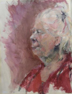 Claire, acryl op papier