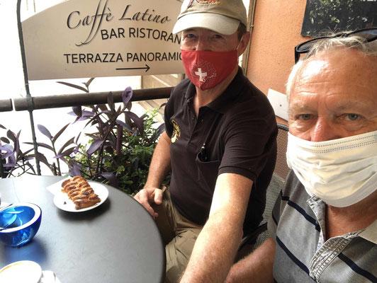 Cappuccino unter Corona Vorschriften