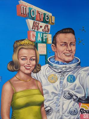 Gemälde 650,HI-LO CAFE,Acryl auf Hartfaserplatte,2020,60 x 80 cm