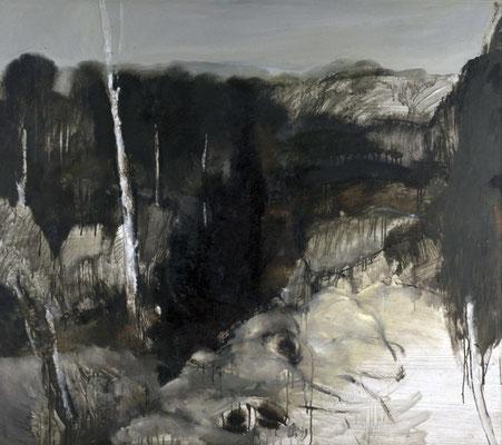 Gletscher, 1981/82, Öl auf Leinwand, 111x125