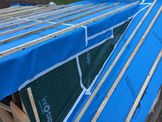 das Unterdach ist fertig montiert