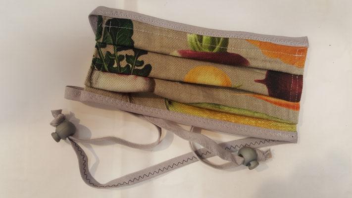 Maske: Motiv, beiges Gemüse