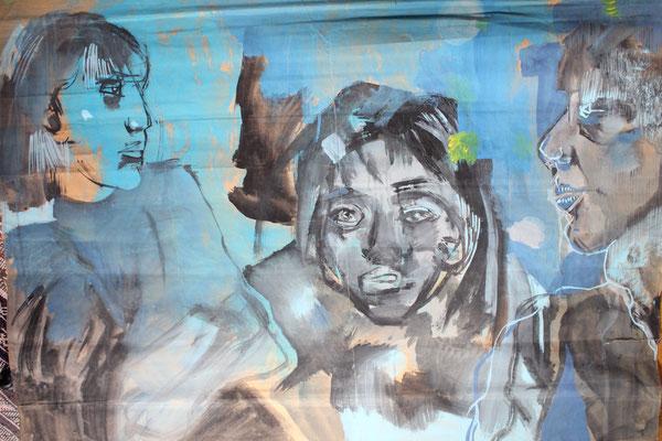 La belle et les bêtes, 2007, 120 x 75 cm