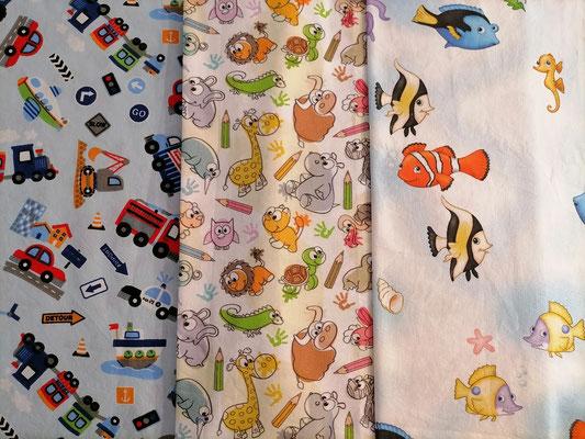 Motiv-Stoff f. Gesichtsmasken (100% Baumwolle), Fahrzeuge, Tiere, Nemo-Fisch