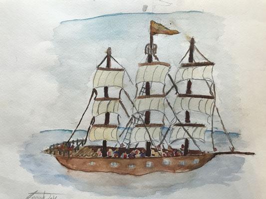 Windjammer auf Meer 2