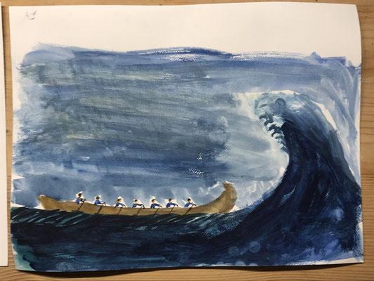 Ruderboot Baskenland