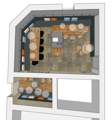Restaurant Drogerie, Weinkeller - Untergeschoss