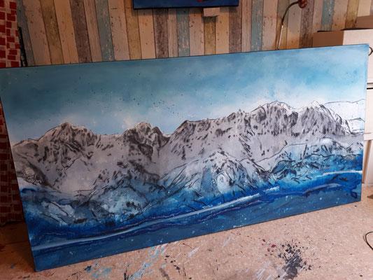 Bild mit Gebirge im Aufbau