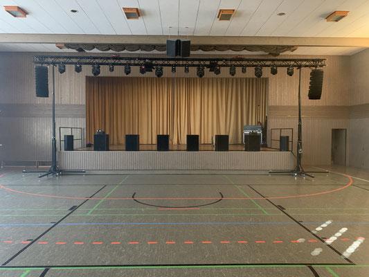 Fasnet 2020 in Oberzell - Was ein Wochenende! Beschallungs- und Lichtanlage in der Schussentalhalle in Oberzell...