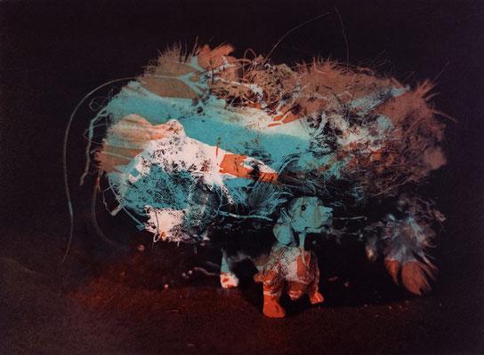 Kristin Finsterbusch, frinds 10, Fotopolymerdruck, 3 Platten, 15x20cm, 2021