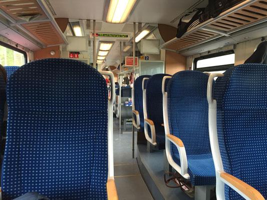 Bild: Im Zug von Hamburg nach nach Sylt