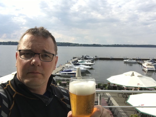 More than 6500km behind and heading back home. A short stopover at Poland. Me and well deserved beer. (beer is always deserved)