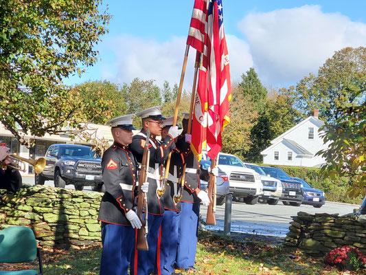 Color Guard: Sgt Christian Medina, Sgt Edgar Garcia, LCpl Saheeb Isholajackson, LCpl Maxwell Dana