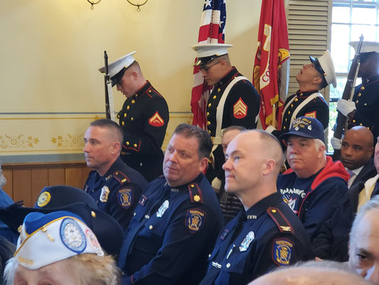 Members of the Portsmouth Police Department. Chief Brian Peters at right.