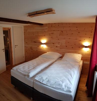 Schlafzimmer 1 - Die Infrarotsauna ist von hier zugänglich.