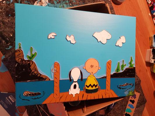 "Künstler Martin Lingens, Entstehung ""Liquid Snoopy"""