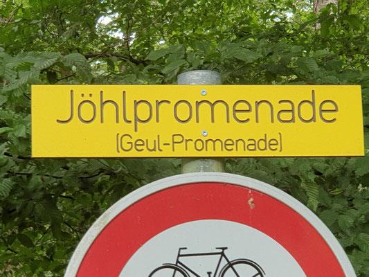 Eingang Göhlpromenade an Grossebusch (Buschhausstrasse)