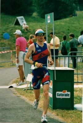 Philip Schädler an der Triathlon EM in Echternach (Lux) 4.7.1993