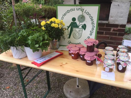 Angebot von Marmelade beim Frühjahrs- und Herbstmarkt im Naturpavillon Zellerpark