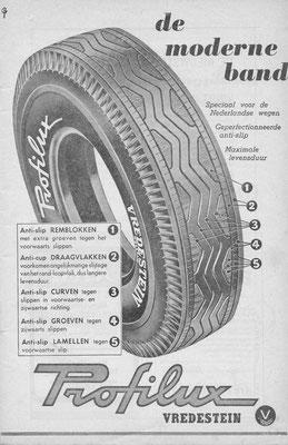 Advertentie Vredestein uit 1953.