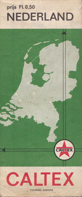 Caltex Touring Service, kaart Nederland, 1967.