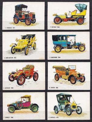 Plaatjes uitgegeven door Bolletje (beschuit) 1 t/m 8.