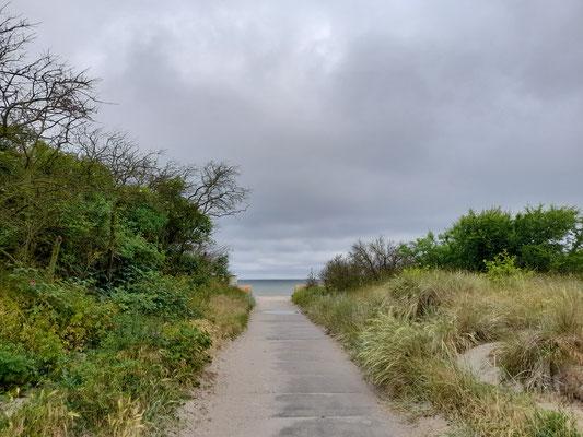 Zugang zum Strand in Timmendorf auf der Ostseeinsel Poel