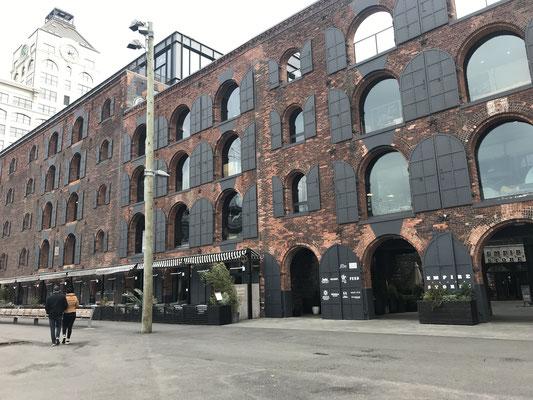 ダンボ地区。リノベーションされた工場跡地。