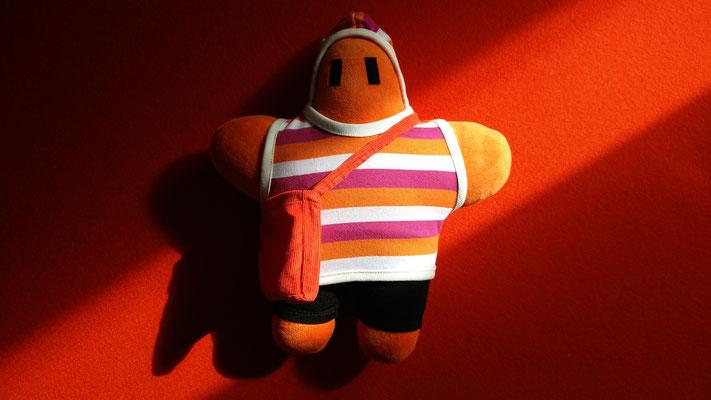 Orangefarbener FRAGENHELD