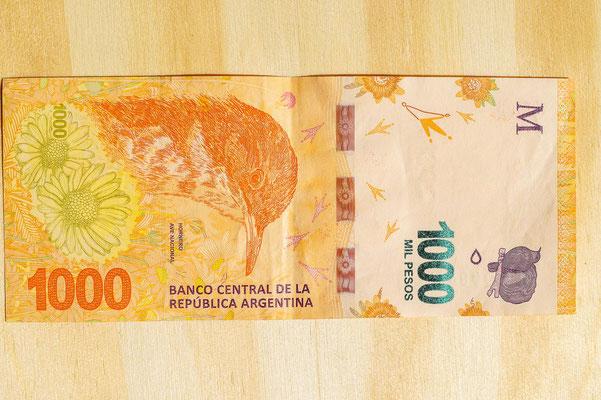1000-Peso-Scheine können oftmals nichts gewechselt werden