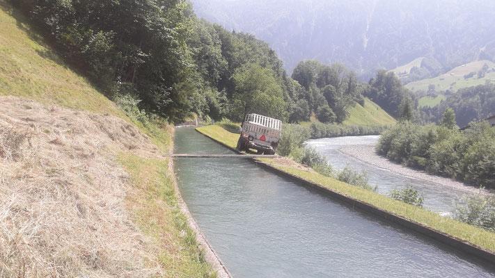 Wasserkanal Kleinkraftwerk Ibach