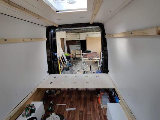 Bau der Sitzecke