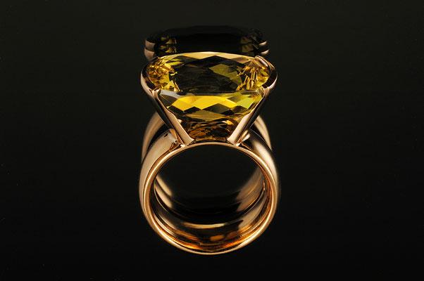 Produktnummer 0845 - 585/- Rosegold, Lemoncitrin
