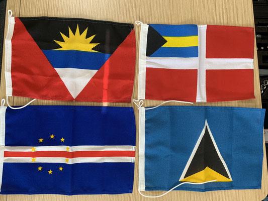 Hat mich gefreut die beiden Martins wiederzusehen! ... hier auf den Kanaren bekommt man jetzt auch die Gastlandflaggen von den Kap Verden, St. Lucia, Antigua und den Bahamas .... wer weiß welche wozu gehört ... die Verpackung habe ich schon entsorgt ;o/
