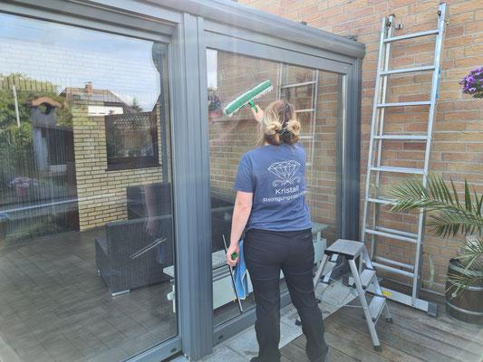Kristall-Reinigungsservice Wintergartenglasreinigung Seitenfenster