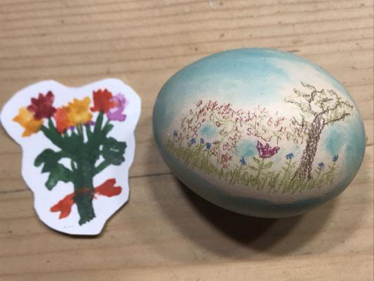 Blumen mit Osterei (Miniature)