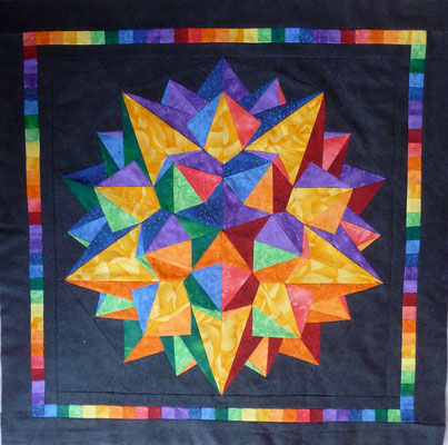 and the logic backside of my Dodecula star as a quilt.