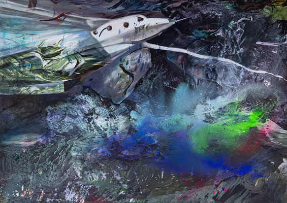 JINY LAN  I  After Joseph Beuys, Jeff + Wally, starting to the universe  I  Mischtechnik auf Leinwand  I   100 x 140  cm