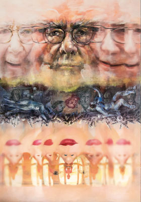JINY LAN  I  Jiny Richter Replacement  I  Mischtechnik auf Leinwand  I   140 x 200  cm