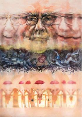 JINY LAN  I  Jiny Richter Replacement  I  Mischtechnik auf Leinwand  I   200 x 140 cm
