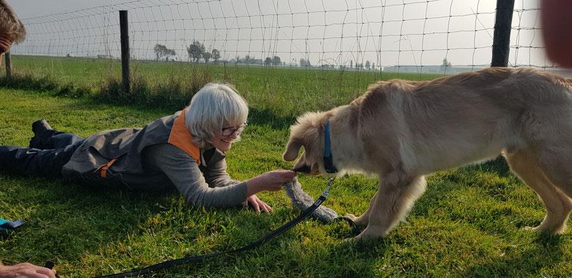 auf einem Seminar bei crea canis in Woringen