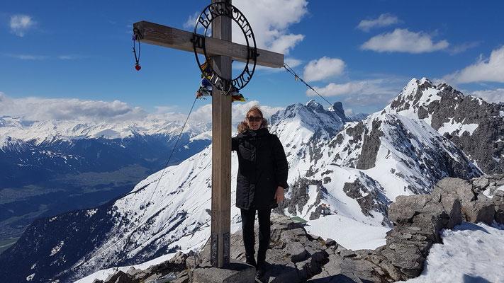 Beim Hafelekar Gipfelkreiz, Innsbruck