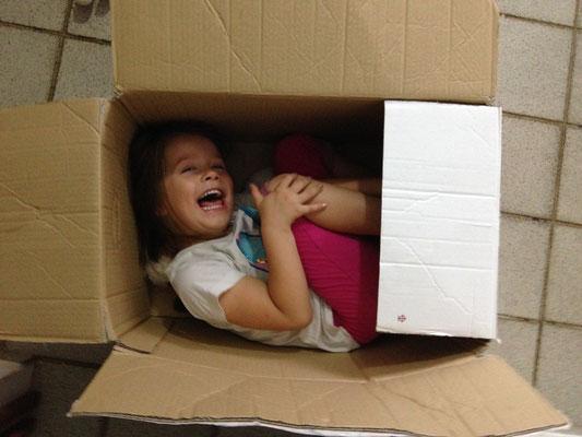 Die Kisten sind geräumt und werden neu gefüllt... :-)