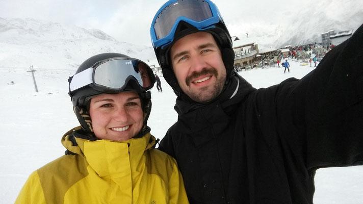 Wir hatten Spass auf den Skien