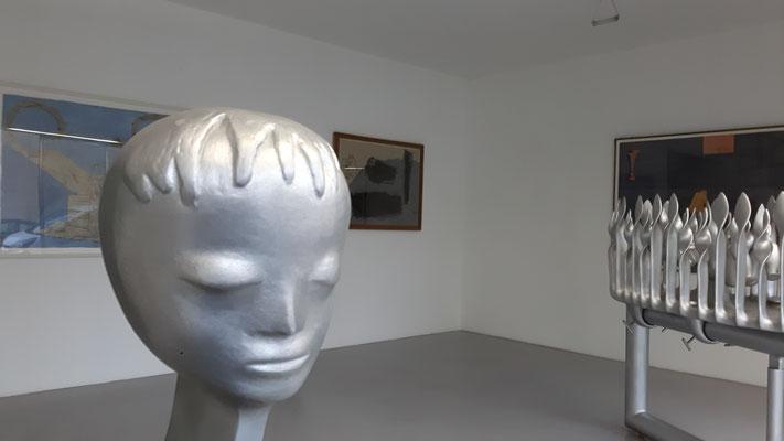 Bruno Gironcoli im Kunstraum Walker, 2018 ©Galerie Walker